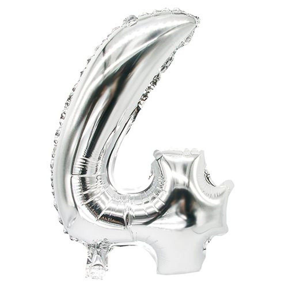 Ballon aluminium 35 cm x 20 cm argent ''4'' par 24