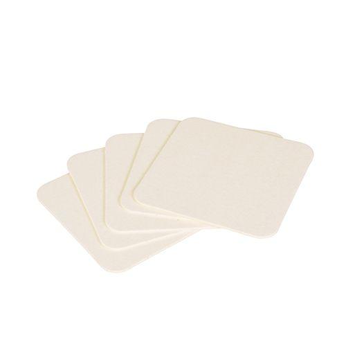 Dessous de verre carré 9,3 x 9,3 cm blanc par 1000