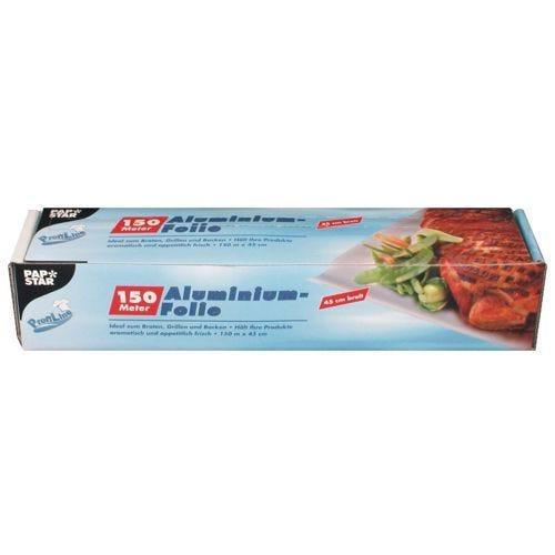 Feuille d'aluminium 150 m x 45 cm en boîte par 6