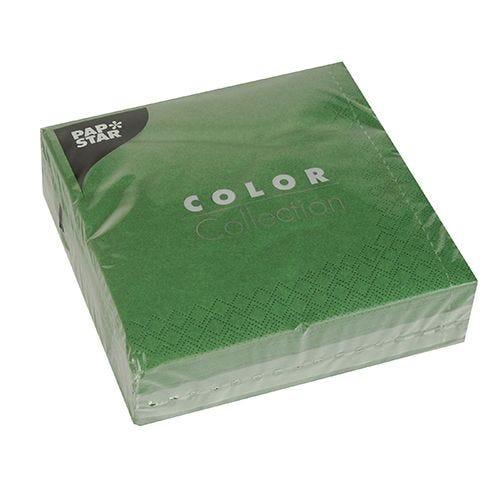 Serviette 3 plis pliage 1/4 33 cm x 33 cm vert foncé par 700