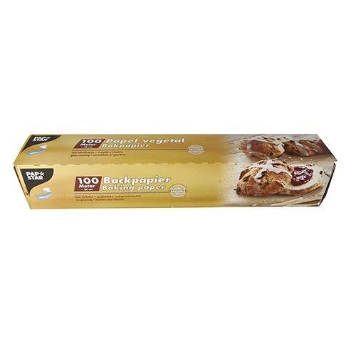 Papier pour pâtisseries 100 m x 38 cm marron en boîte par 6