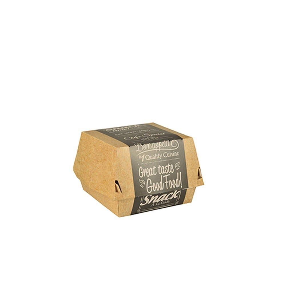 Boite à hamburger en carton fibres vierges 6,9 cm x 6,5 cm x 6,5 cm par 400