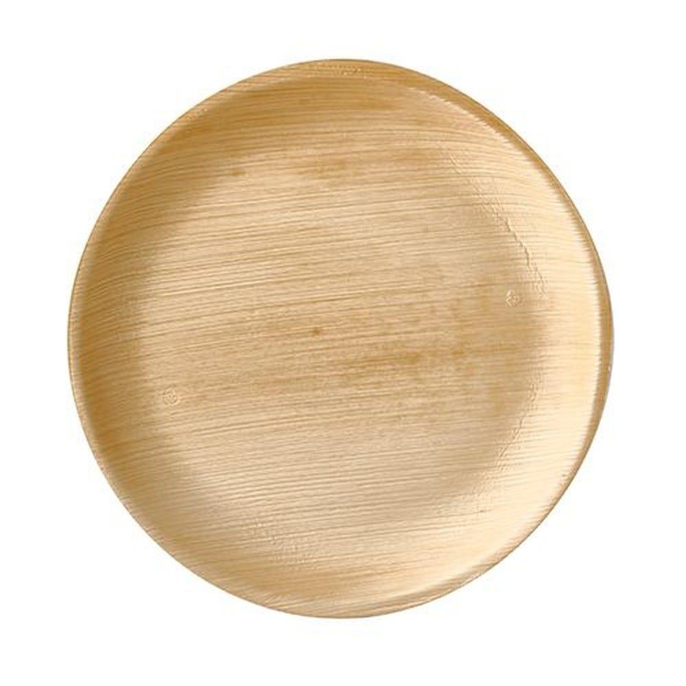 Assiette en Feuille de palmier ''pure'' ronde Ø 25 cm · 2 cm par 100