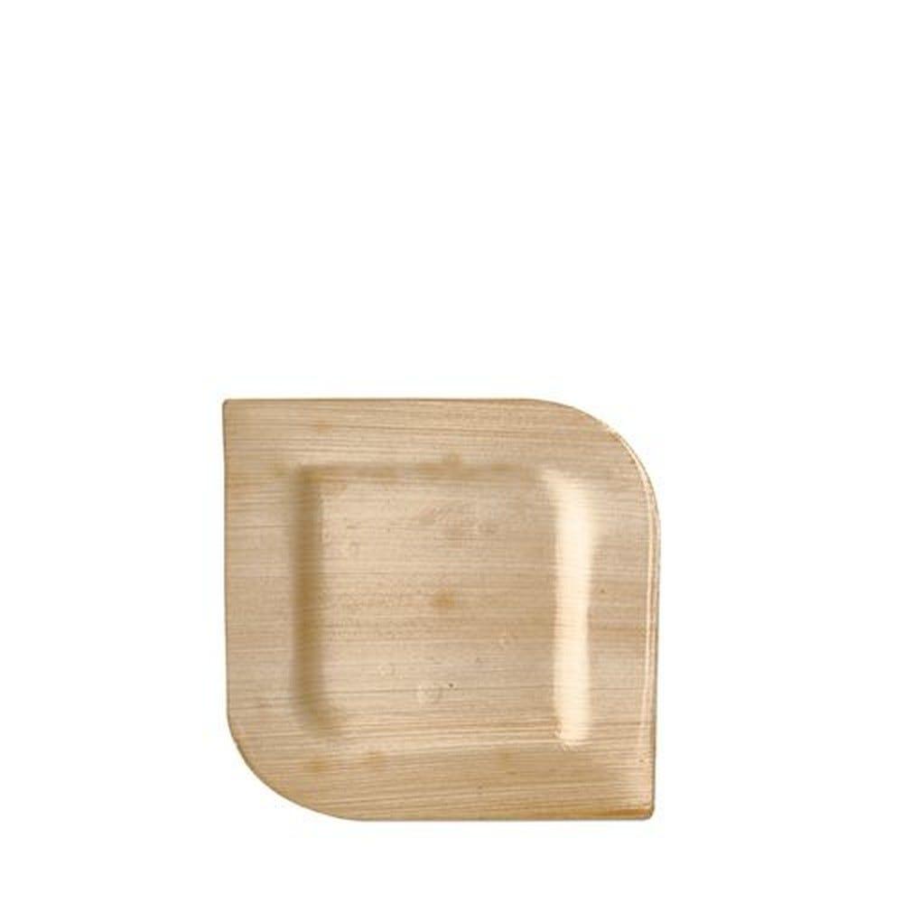 Assiette en Feuille de palmier ''pure'' carrée 15 cm x 15 cm x 1,5 cm par 100