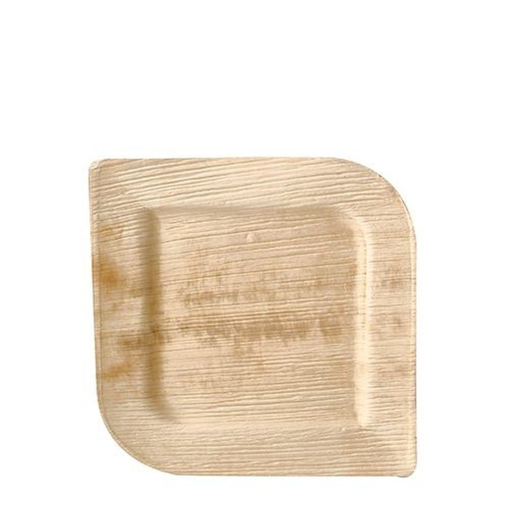 Assiette en Feuille de palmier ''pure'' carrée 20 cm x 20 cm x 1,5 cm par 100