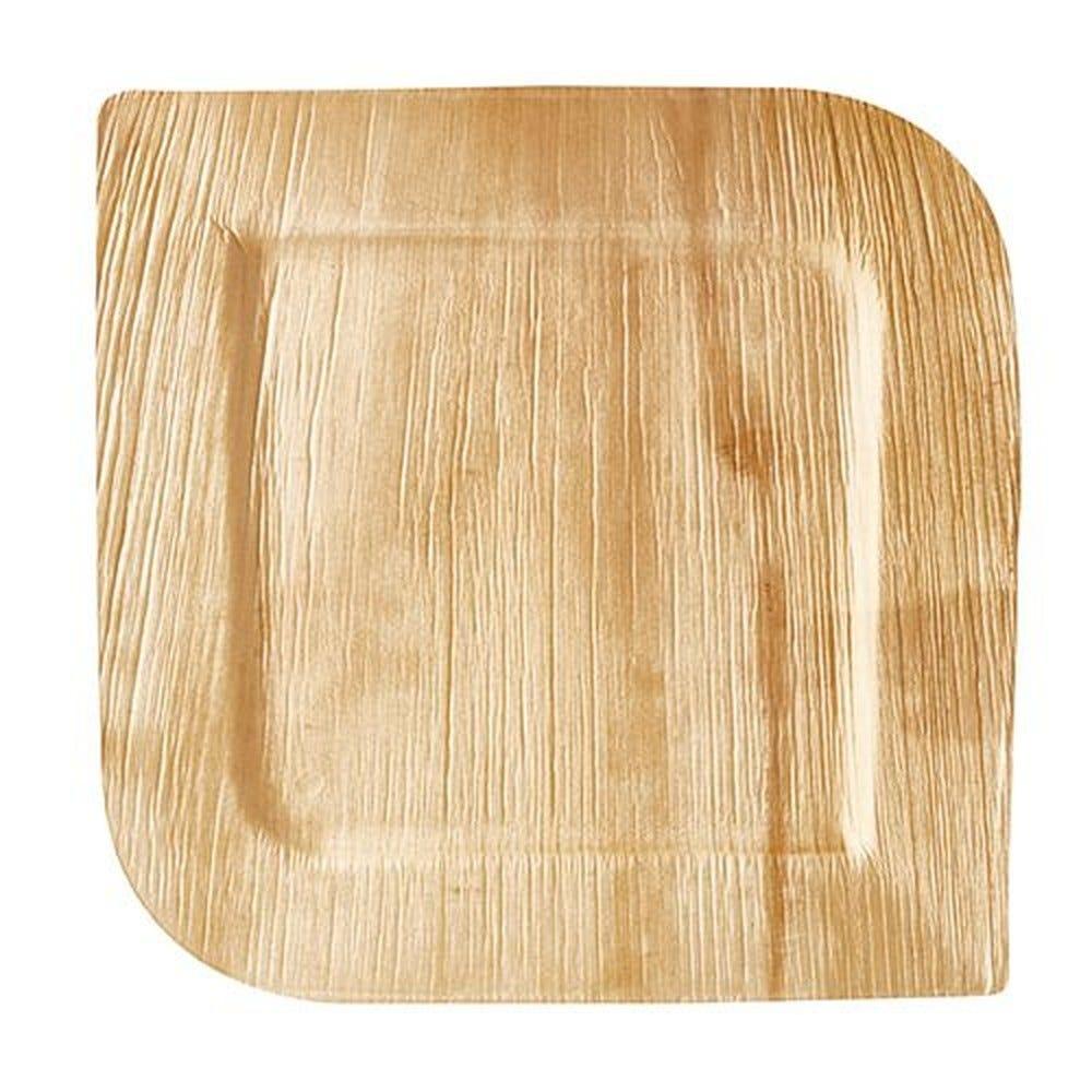 Assiette en Feuille de palmier ''pure'' carrée 26 cm x 26 cm x 2 cm par 100