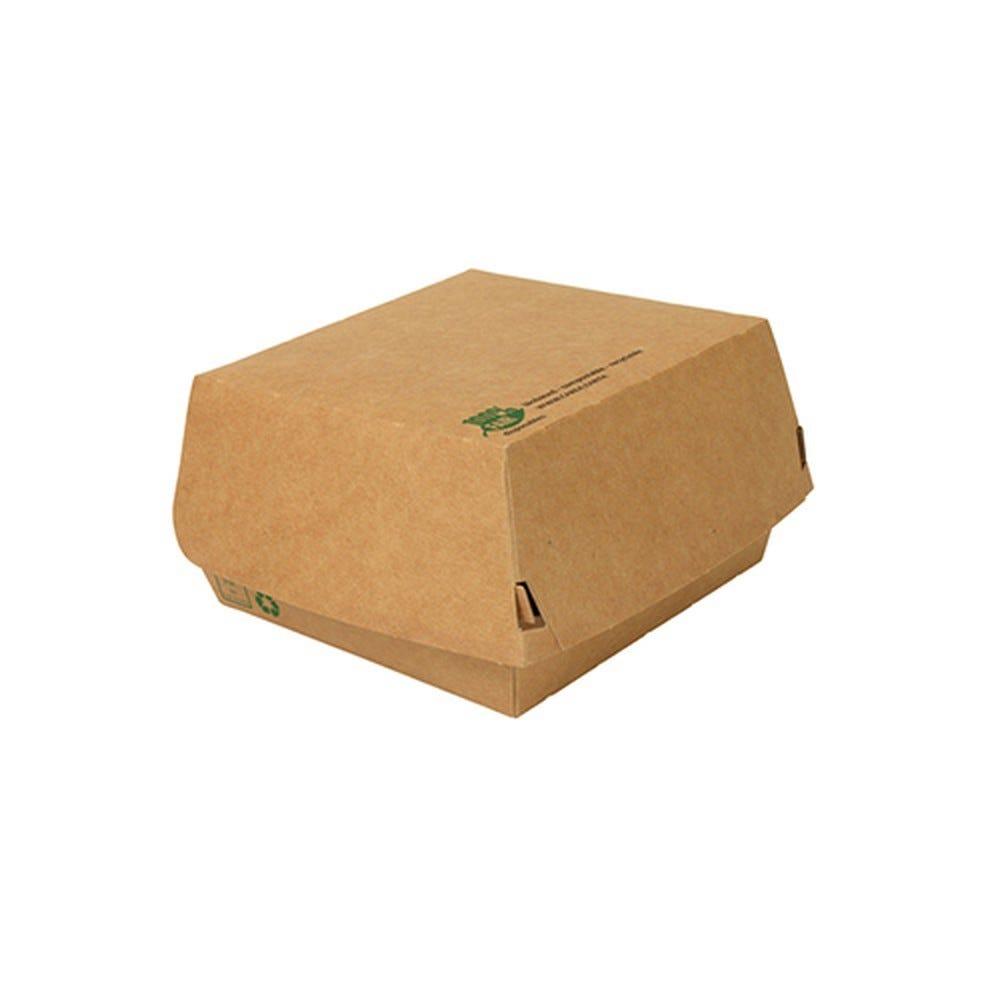 Boîte à hamburger en carton fibres vierges 7 cm x 11,5 cm x 11 cm grand par 320