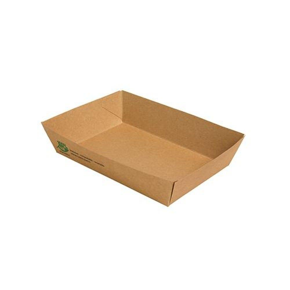 Barquette snack en carton fibres vierges 4 cm x 11 cm x 16 cm par 640