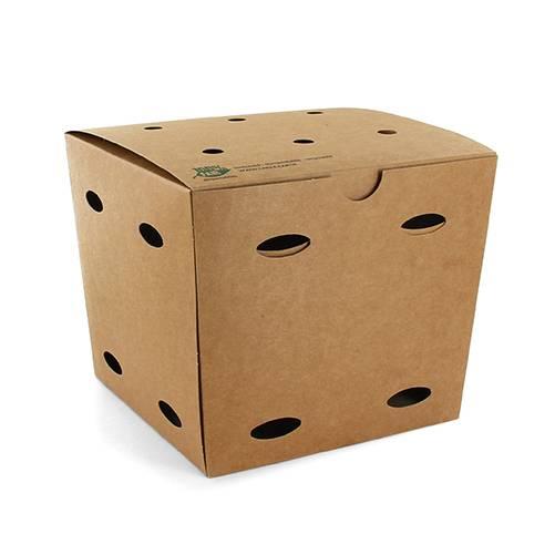 Boîte pour frites, en carton ''pure'' 14 cm x 14,5 cm x 14,5 cm par 250