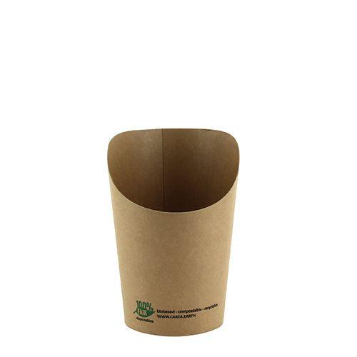 Emballage pour wrap, en carton 230 ml 10 cm x 6 cm x 8 cm marron par 1000