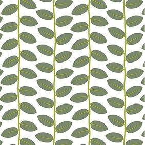 Serviette 3 plis pliage 1/4 33 cm x 33 cm vert ''Bönor & Blad'' par 200
