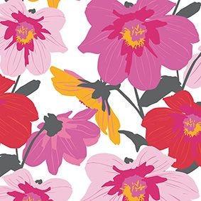 Serviette 3 plis pliage 1/4 33 cm x 33 cm ''Blomster'' par 200