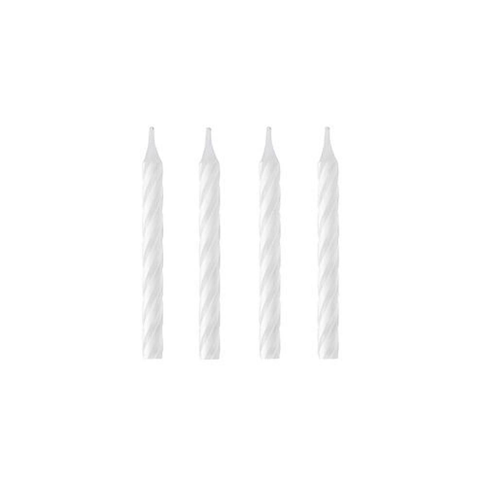 Bougie d'anniversaire 6 cm blanc par 1728