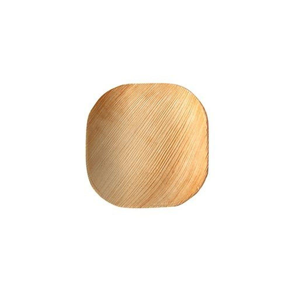 Assiette en Feuille de palmier ''pure'' carrée 10 cm x 10 cm x 1,5 cm par 250