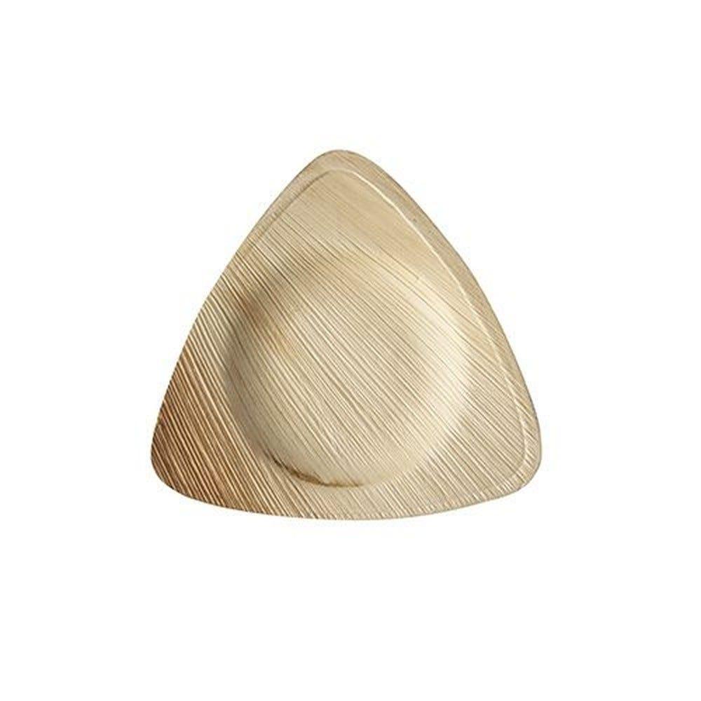 Assiette en Feuille de palmier 'pure' triangulaire 15 cm x 15 cm x 2 cm par 100