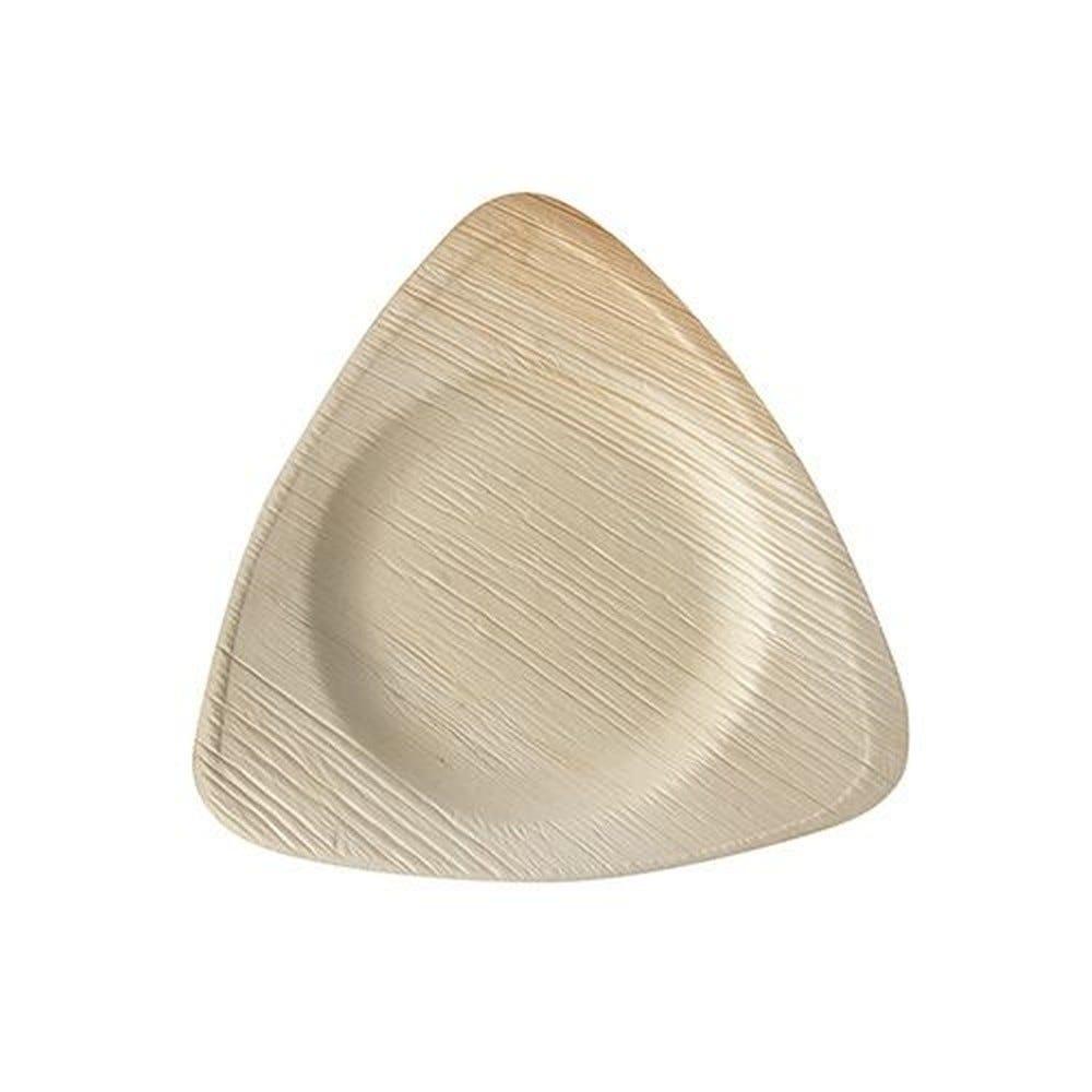 Assiette en Feuille de palmier 'pure' triangulaire 20 cm x 20 cm x 2 cm par 100