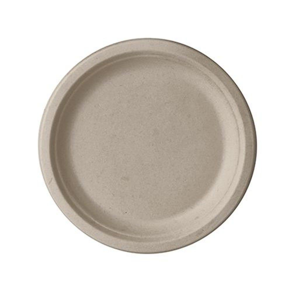 Assiette en canne à sucre ''pure'' ronde Ø 18 cm · 2 cm naturel par 500