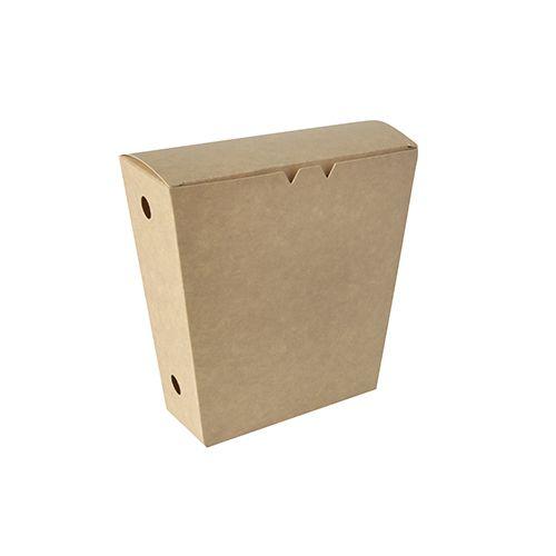 Boîte à frites en carton 1200 ml 4,3 cm x 14,5 cm x 11 cm avec couvercle par 150