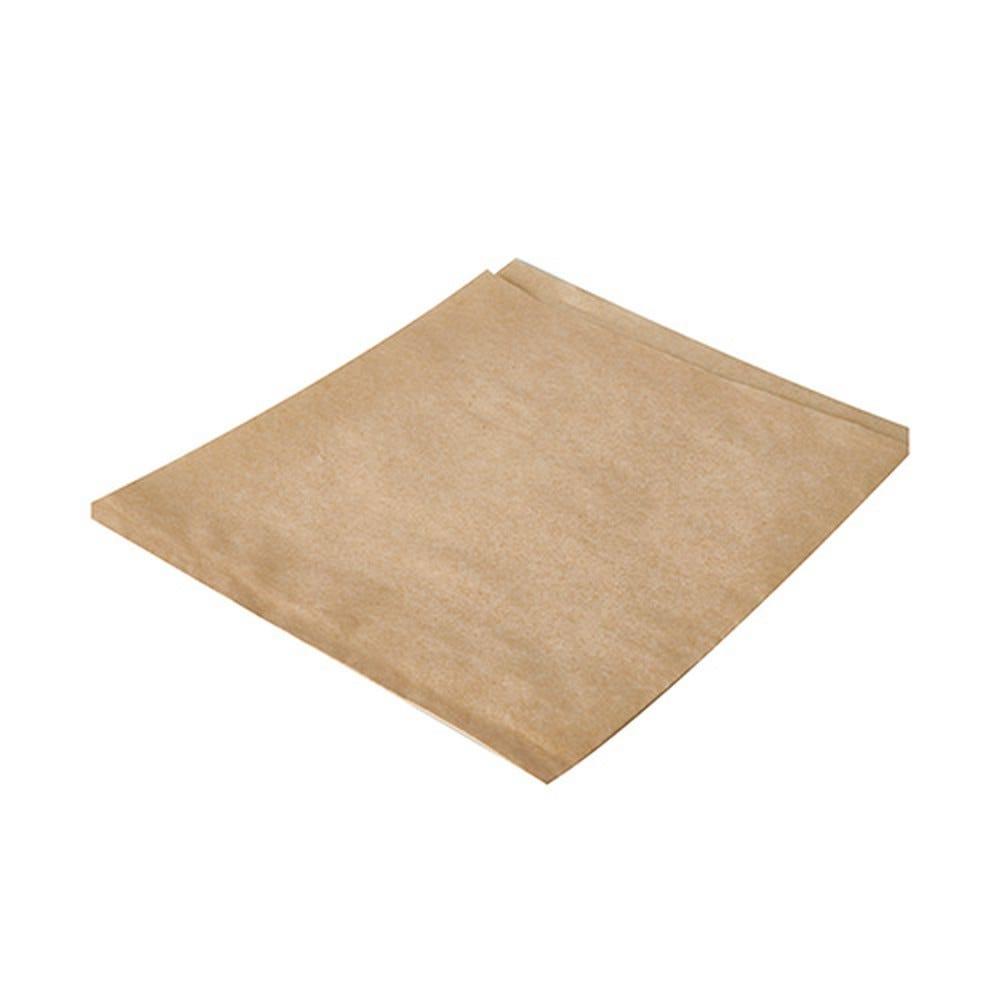 Sachet pour hamburger en papier ingraissable 16 cm x 18 cm marron par 1000
