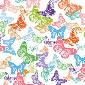 Serviette 3 plis pliage 1/4 33 cm x 33 cm ''Butterfly's flight'' par 200