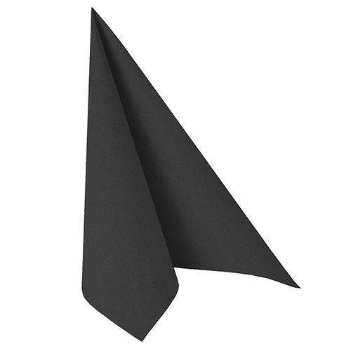 Serviette ''ROYAL Collection'' pliage 1/4 48 cm x 48 cm noir par 250
