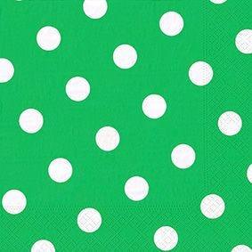 Serviette 3 plis pliage 1/4 40 cm x 40 cm vert ''Dots'' par 200