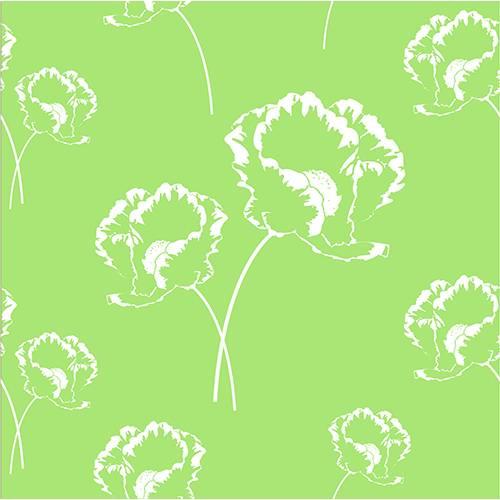Serviette 3 plis pliage 1/4 33 cm x 33 cm vert ''Poppy'' par 200
