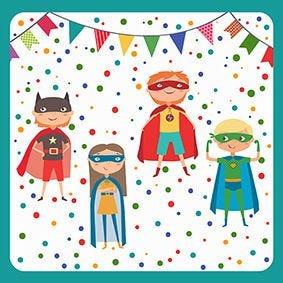 Serviette 3 plis pliage 1/4 33 cm x 33 cm ''Superhero'' par 200