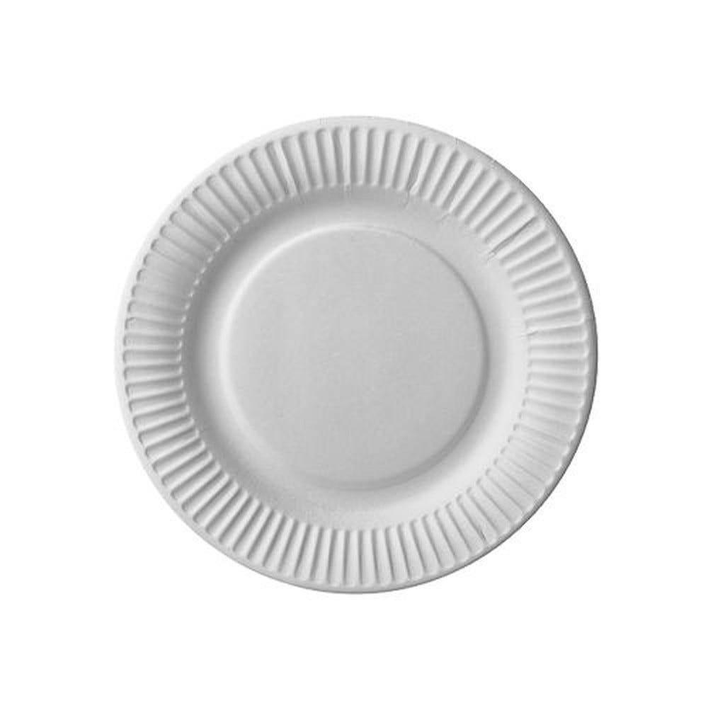 Assiette en carton ronde 1er Prix Ø 18 cm blanc par 800