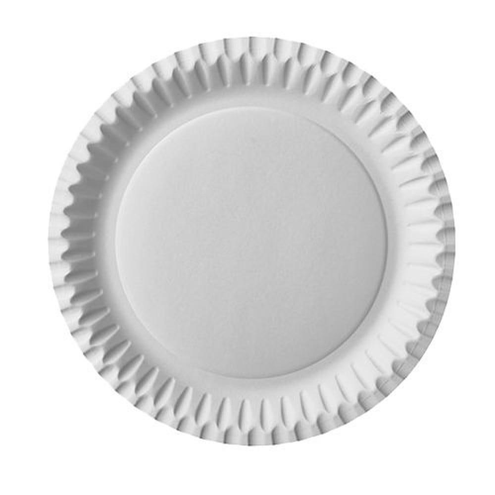 Assiette en carton ronde Ø 23 cm blanc par 800