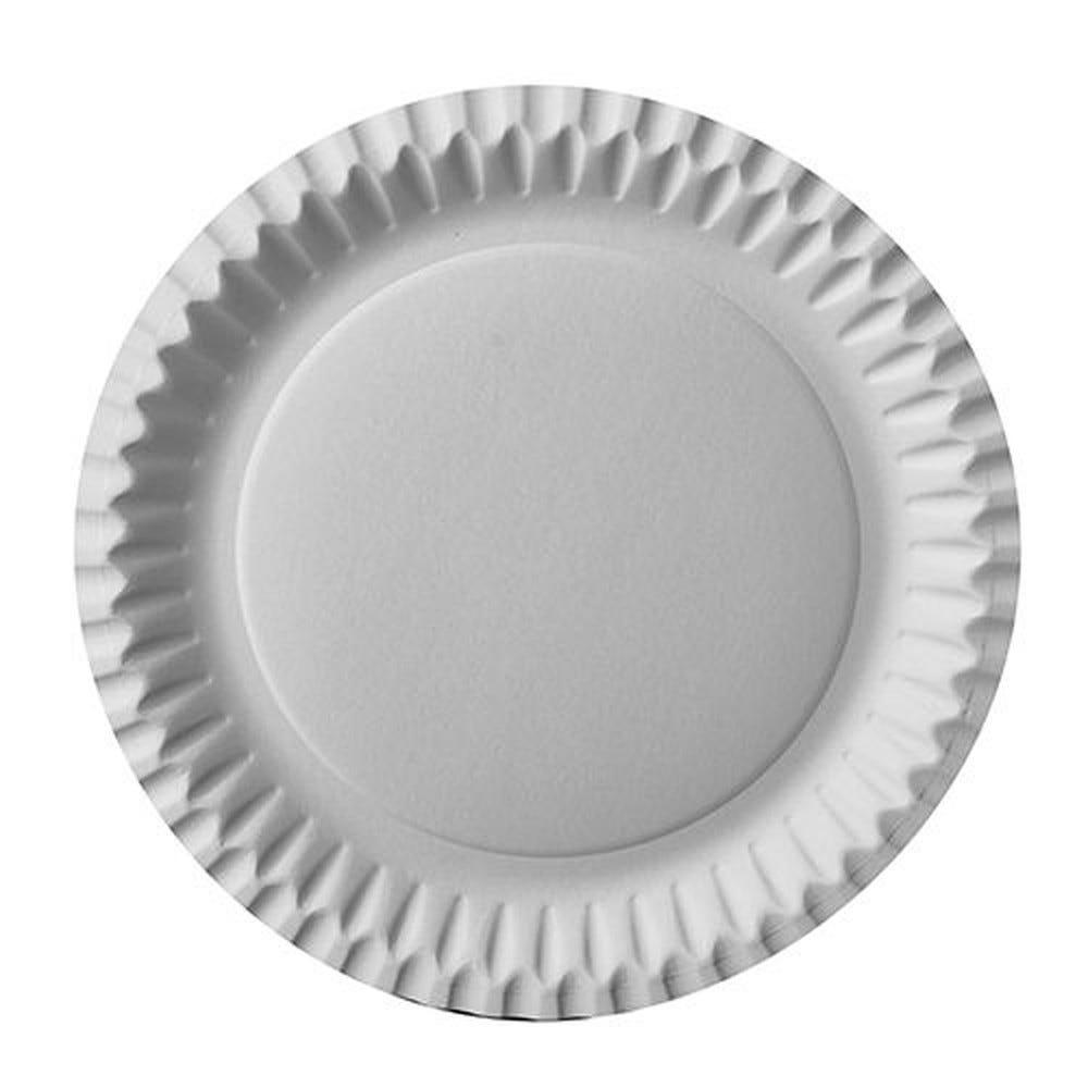 Assiette en carton ronde Ø 23 cm blanc par 500