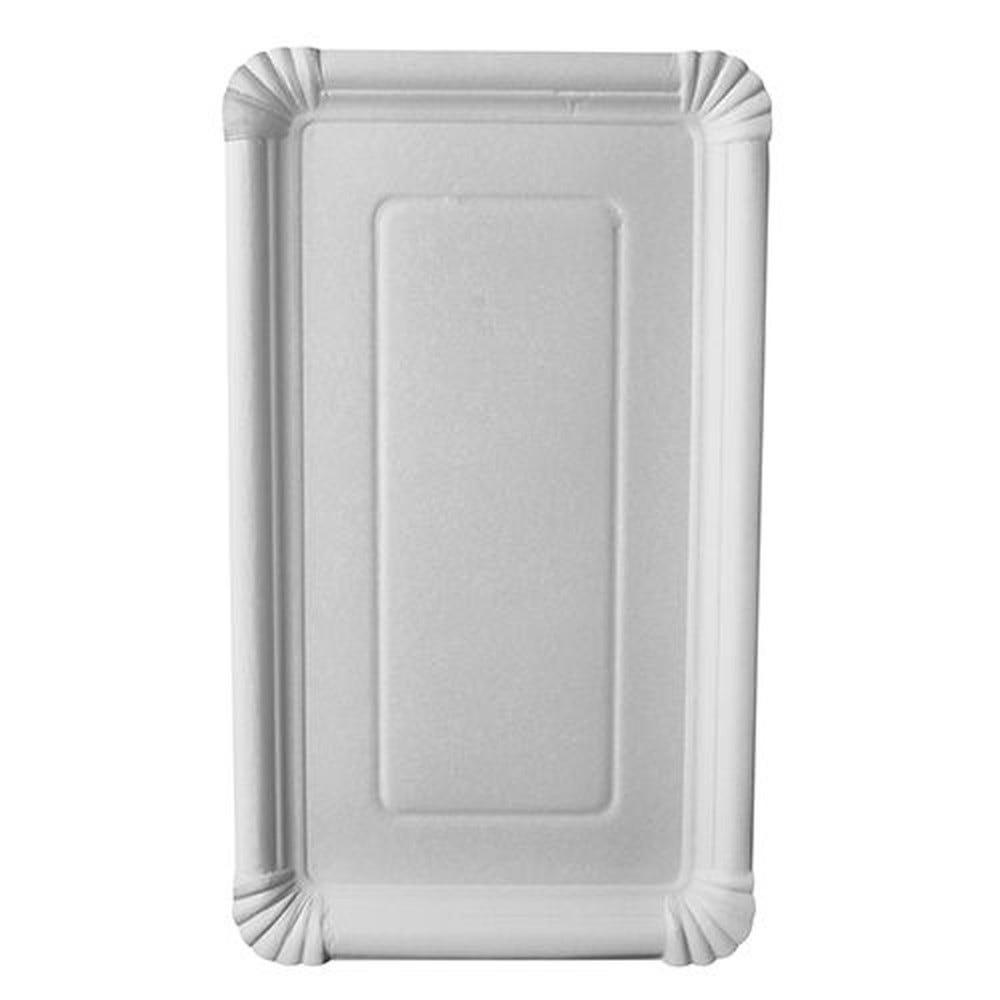 Assiette en carton ''pure'' rectangulaire 18 cm x 33 cm blanc par 250