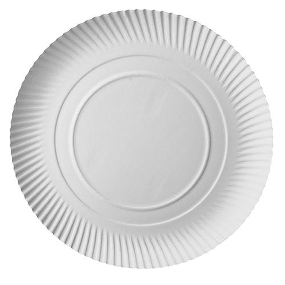 Assiette en carton ''pure'' ronde Ø 34 cm · 3 cm blanc par 200