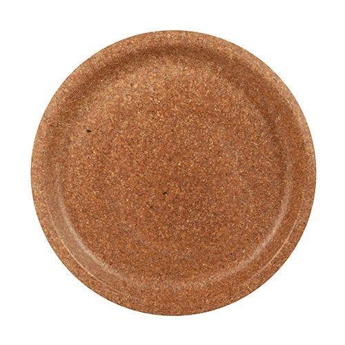 Assiette en son de blé Ø 24 cm marron par 100