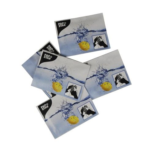 Tissu rafraîchissant au citron 14 cm x 14 cm ''Citron'' par 1000