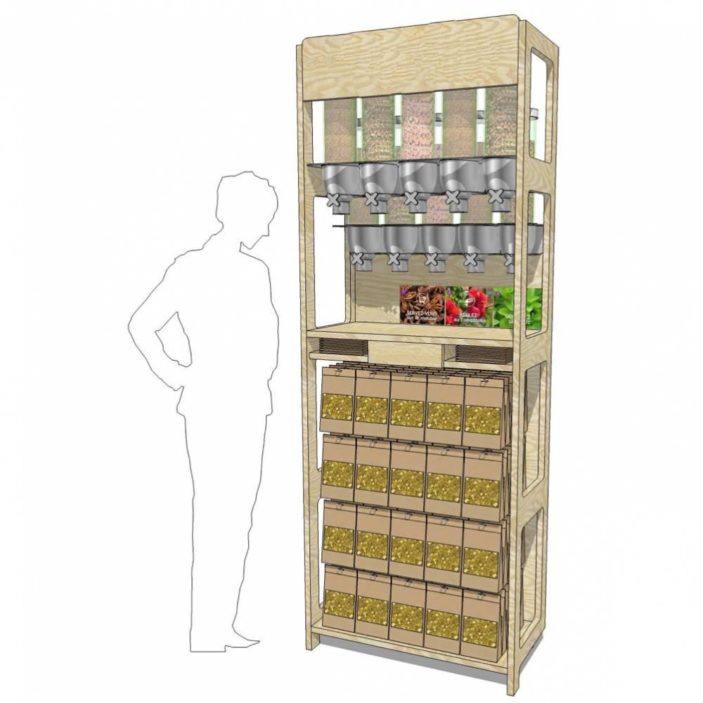 Distributeur carré pour infusion en vrac (photo)