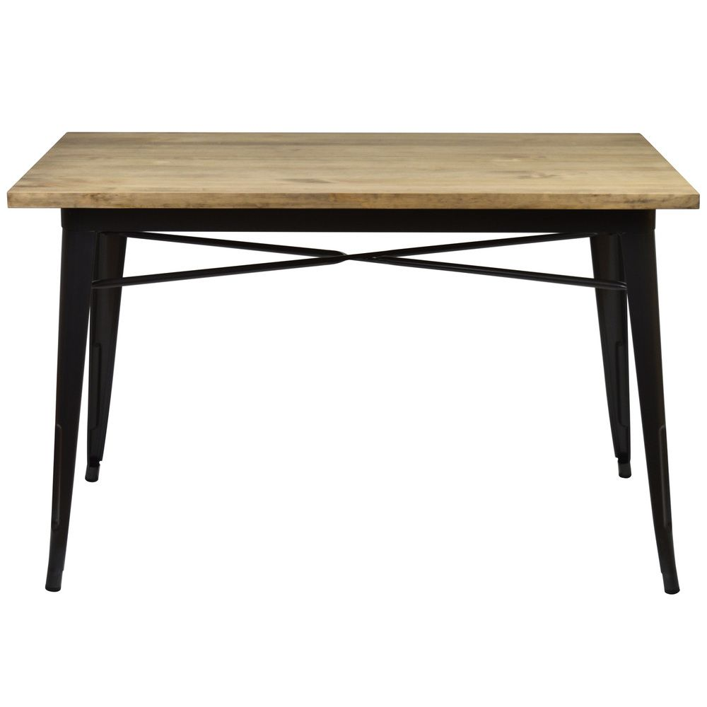 Table à manger Tudix Vintage Industriel. 80X120x75cm 30mm. Gunmetal.