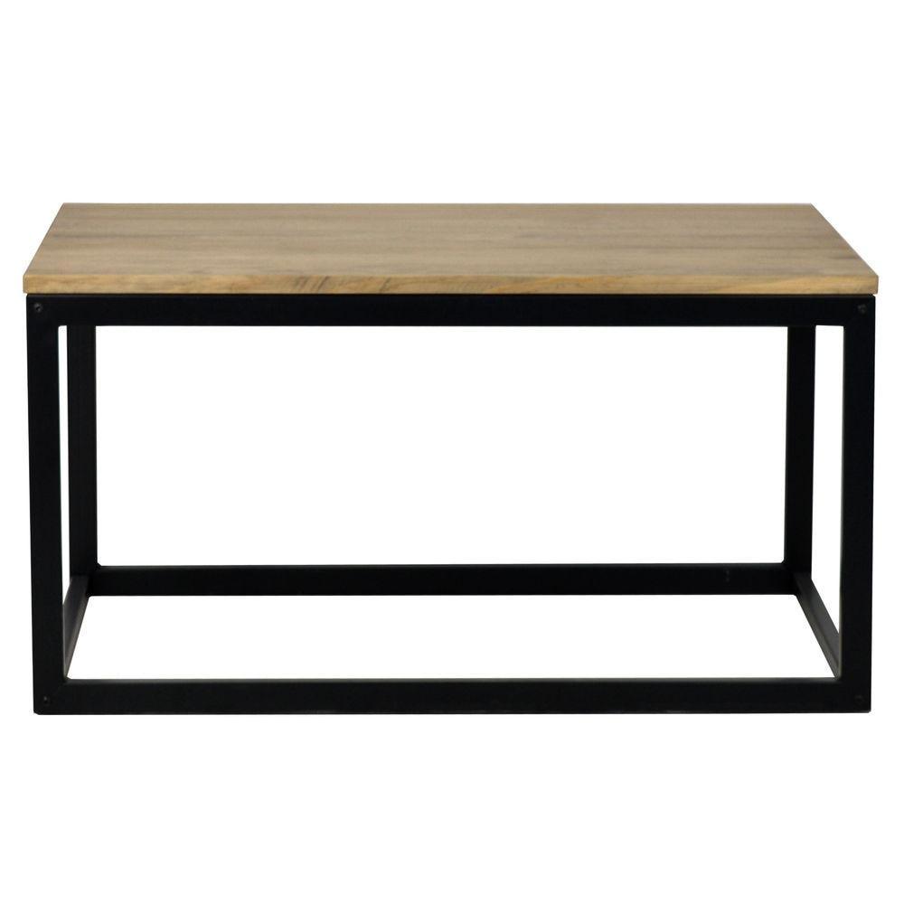 Table basse Icub. style industriel vintage 40x80x42 cm. Noir