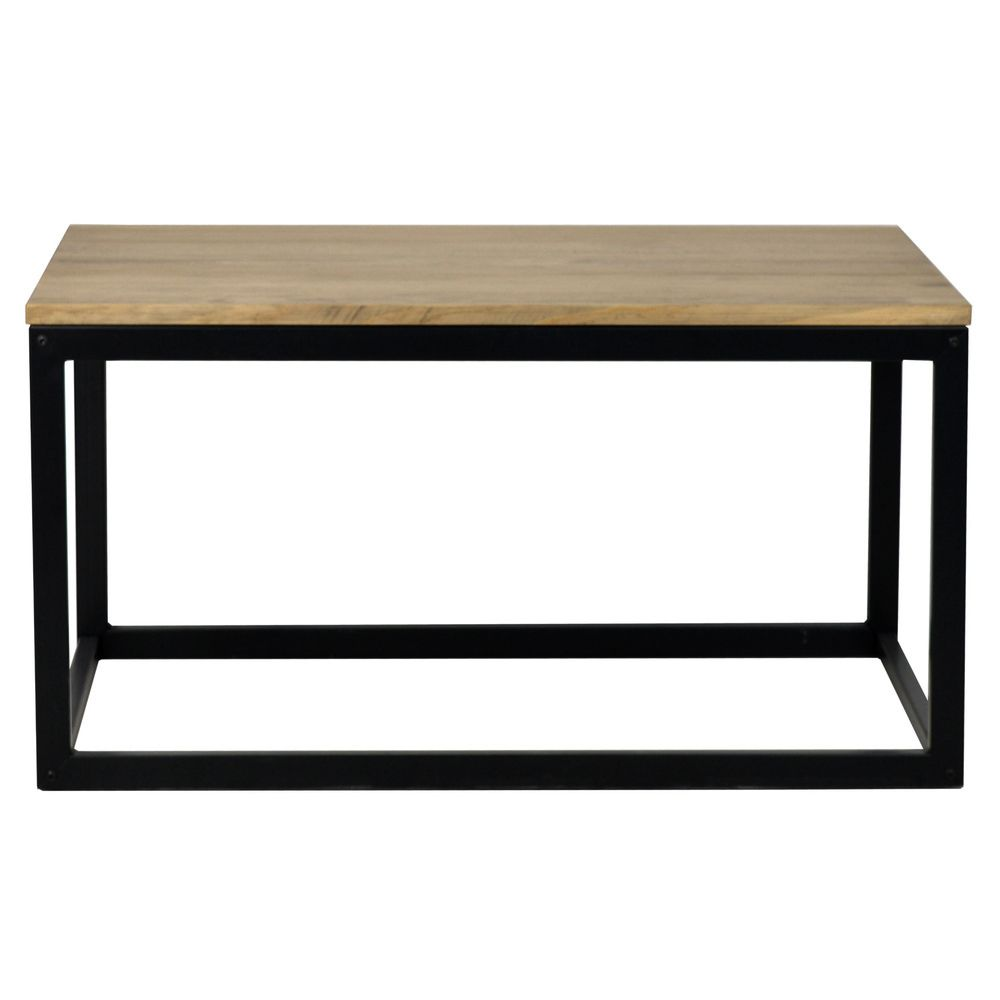 Table basse Icub. style industriel vintage 50x80x42 cm. Noir