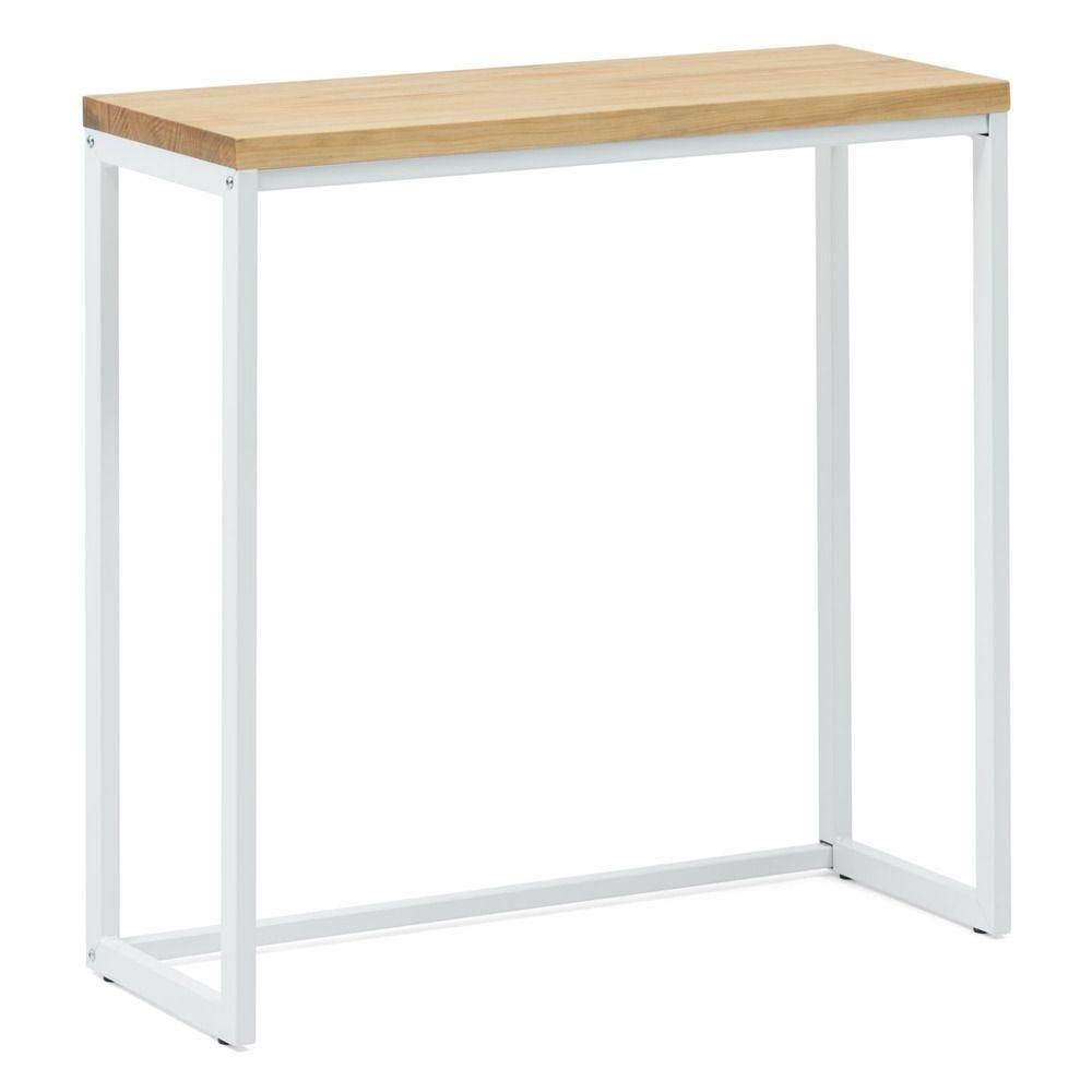 Table d'entree – Console Icub – Scandinave   30x80x80cm  Blanc-naturel