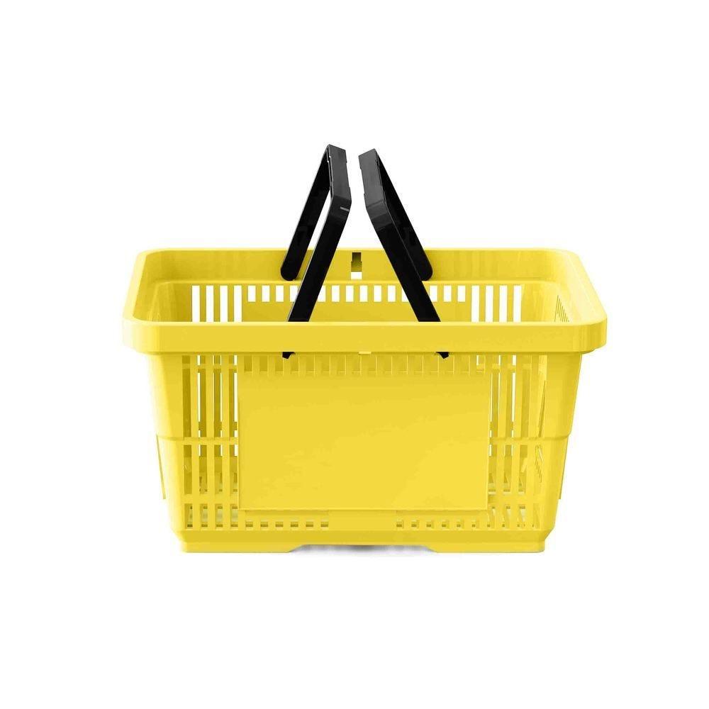 Panier 28 litres 2 anses jaune PAN012 - Par 25