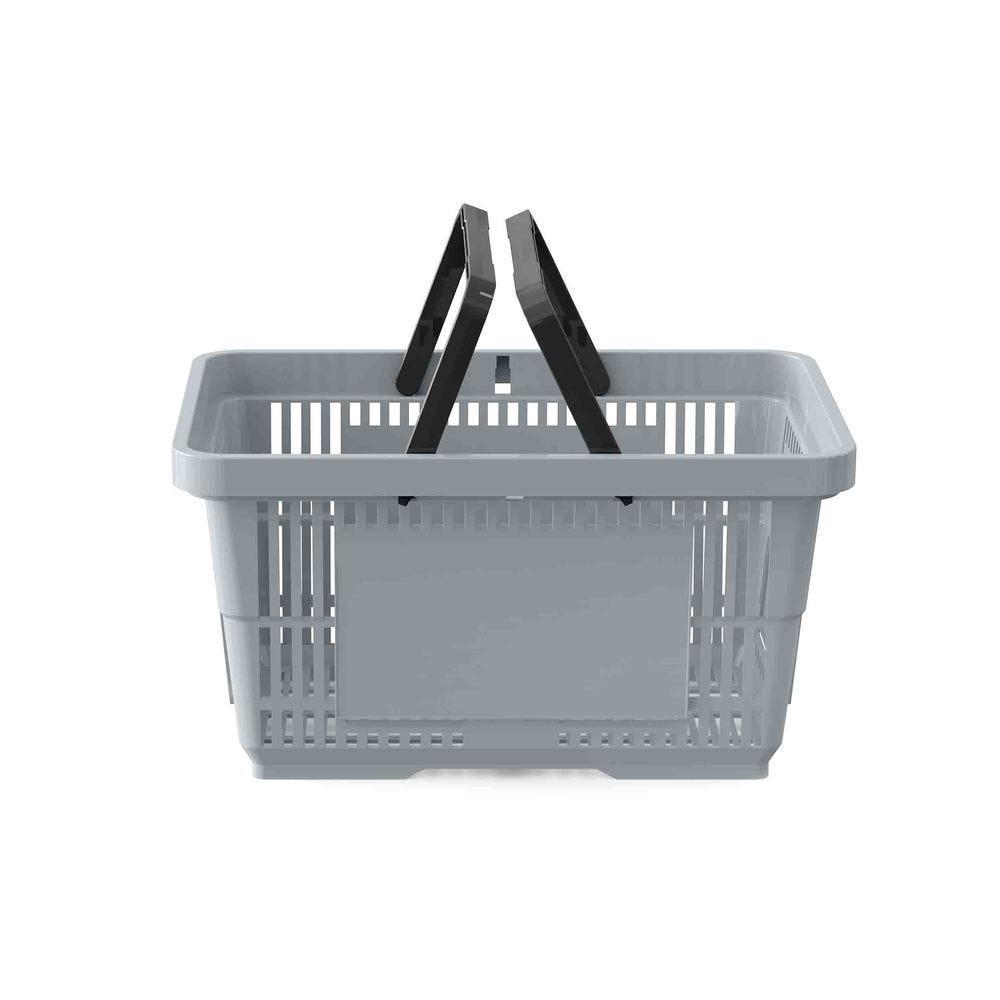 Panier 28 litres 2 anses gris clair PAN429 - Par 25