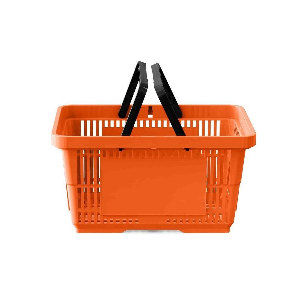Panier 28 litres 2 anses orange RAL 2004 - Par 25