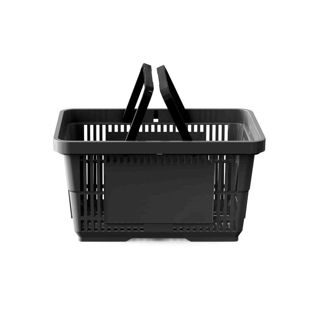 Panier 28 litres 2 anses noir - Par 25