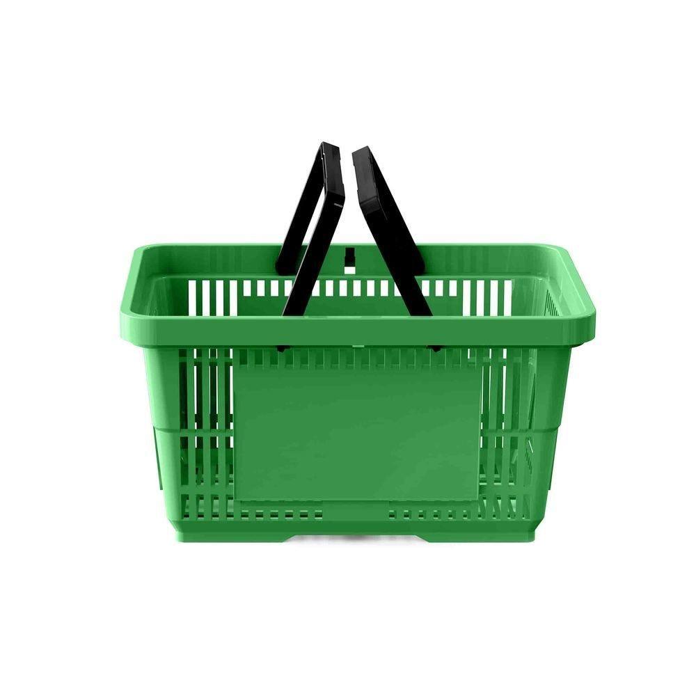 Panier 28 litres 2 anses vert clair PAN347 - Par 25