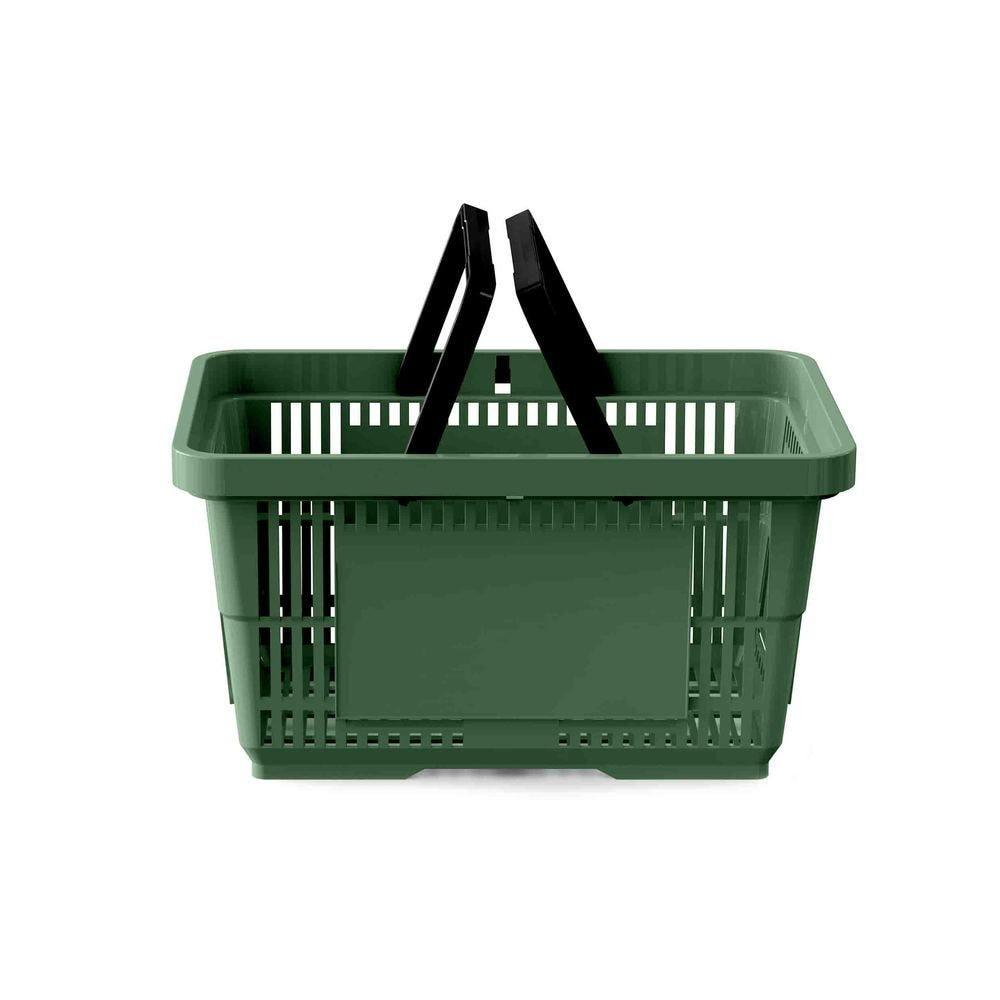 Panier 28 litres 2 anses vert foncé PAN357 - Par 25