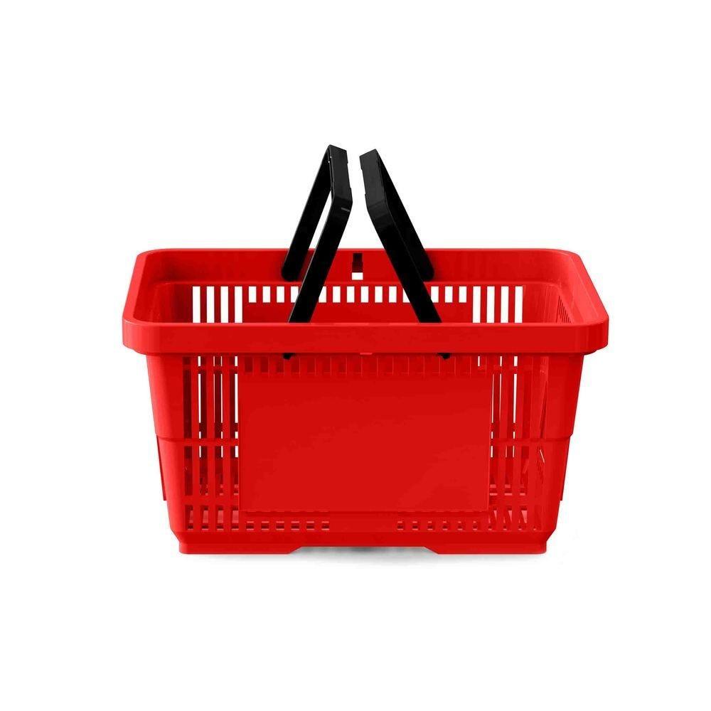 Panier 28 litres 2 anses rouge clair RAL3020 - Par 25