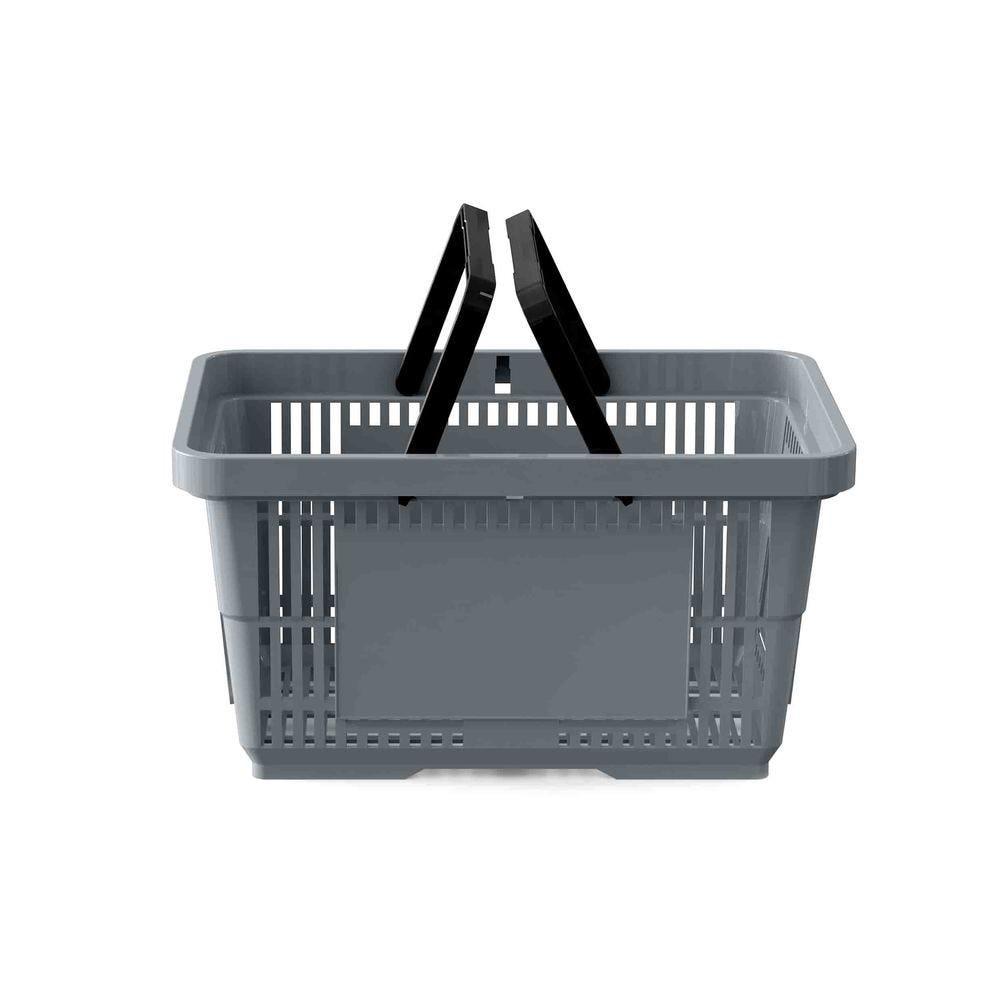 Panier 28 litres 2 anses gris argent COLOR76 - Par 25