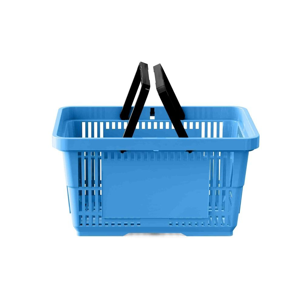 Panier 28 litres 2 anses bleu clair PAN299 - Par 25