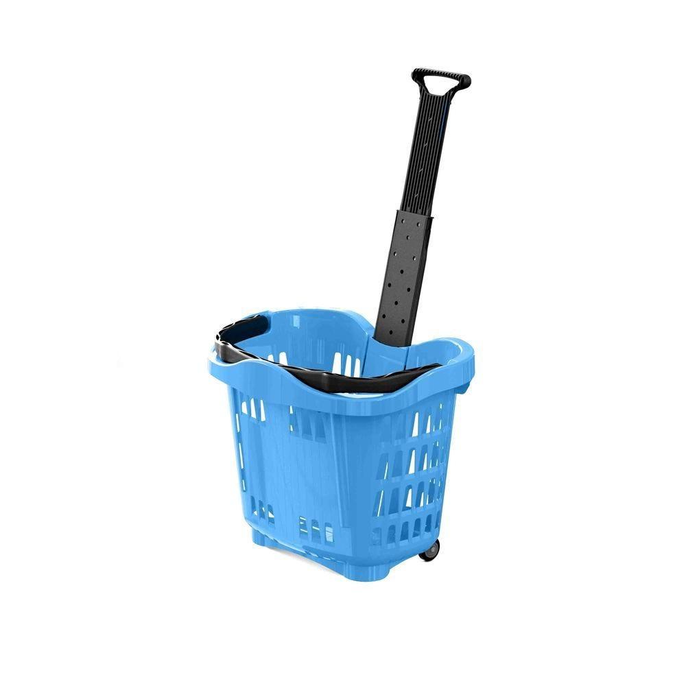 Panier 43L 2 roues bleu clair PAN299 - Par 25